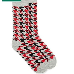 (2pairs) Organic cotton houndstooth socks